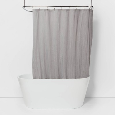 waterproof fabric heavy weight shower liner gray made by design
