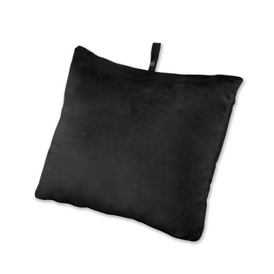 brookstone rectangle memory foam travel pillow black