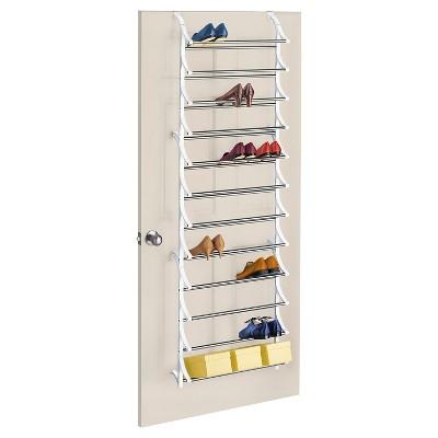 lynk 36 pair over door shoe rack white