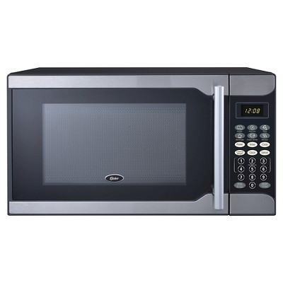 oster 0 7 cu ft 700 watt microwave oven stainless steel