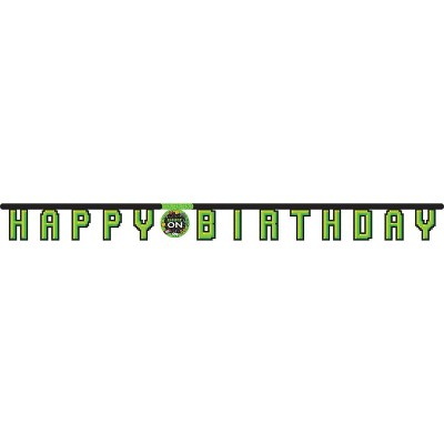 Video Game Happy Birthday Party Banner Target