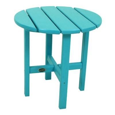 polywood round patio side table aruba