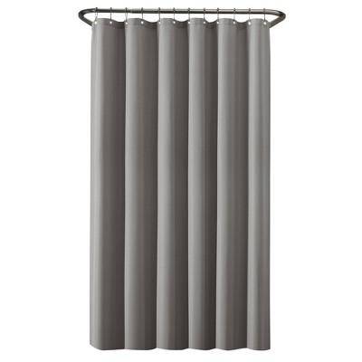 100 waterproof fabric shower curtain liner gray zenna home