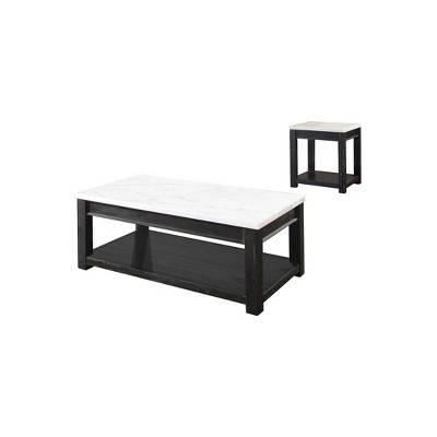 2pc wellsley coffee and end table set white antique black homes inside out