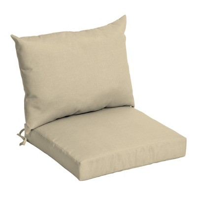 arden selections outdoor dining chair cushion set taupe leala texture