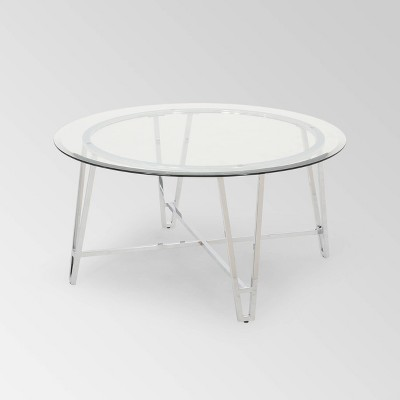 arva modern iron coffee table silver christopher knight home