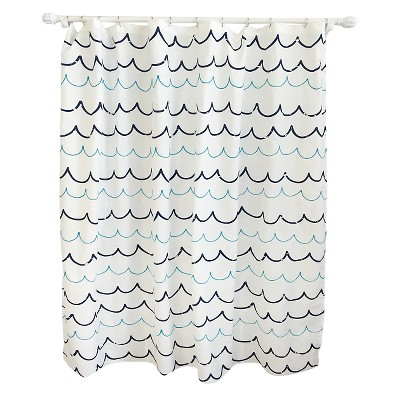 Wave Blue Shower Curtain Pillowfort Target