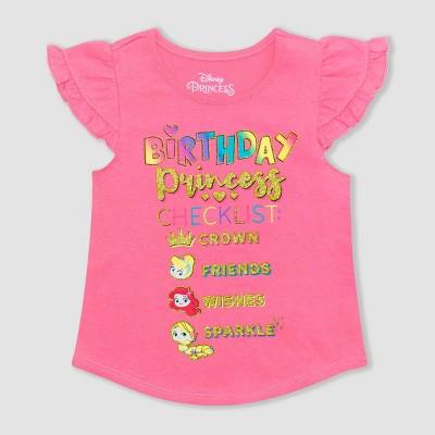 Toddler Girls Disney Princess Birthday T Shirt Pink Target