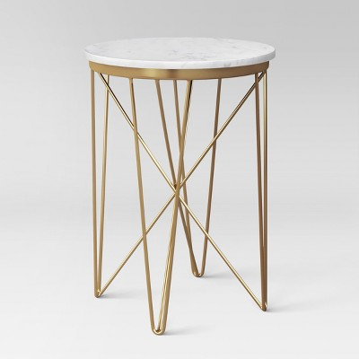 marble top round table gold project 62