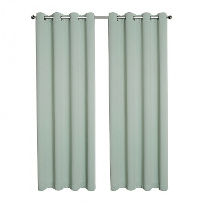 https www target com p kate aurora hotel living 2 pack 100 blackout grommet top sage green curtain panels 63 in l a 82084281