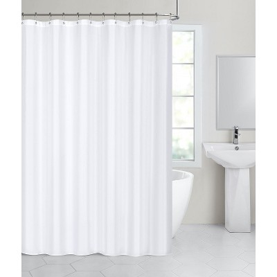 hotel collection fabric shower curtain liners with reinforced hook holes white