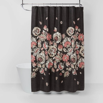 floral shower curtain threshold