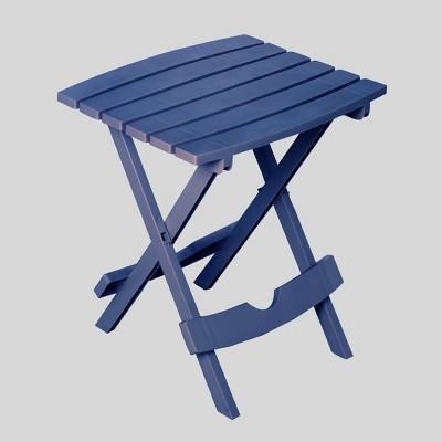 quik fold patio side table patriotic blue adams manufacturing