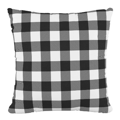 classic gingham outdoor throw pillow black skyline furniture