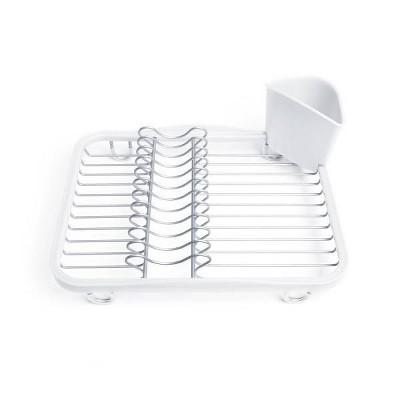 plastic sinkin in sink dish rack white umbra