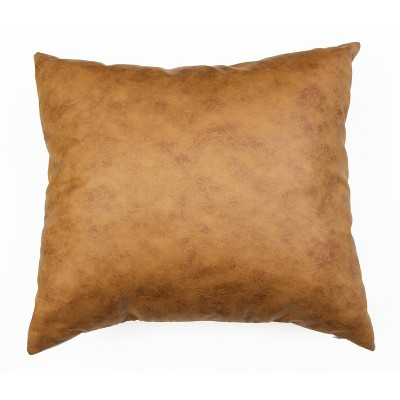 20 x20 oversize pele faux leather square throw pillow brown decor therapy