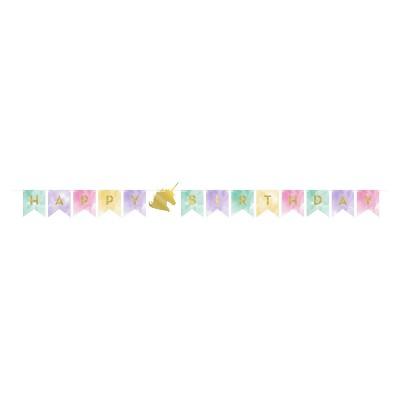 Happy Birthday Unicorn Sparkle Party Banner Target