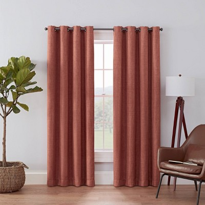 52 x84 rowland blackout curtain panel spice red eclipse