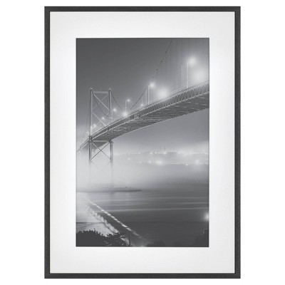 15 x 21 matted to 11 x 17 thin metal gallery frame black project 62