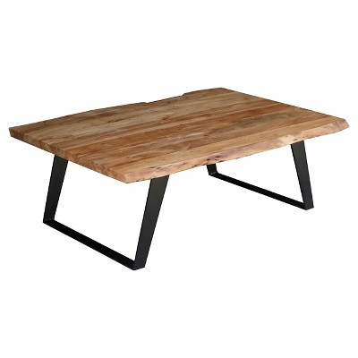 solid wood live edge coffee table 16h x 45w x 31d natural timbergirl