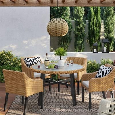 berkshire 5pc patio dining set threshold
