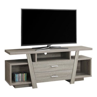 tv stand with storage dark taupe everyroom