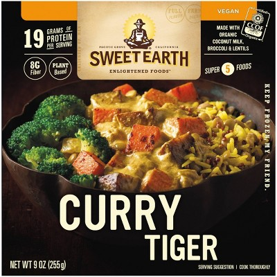 sweet earth natural foods frozen curry tiger 9oz