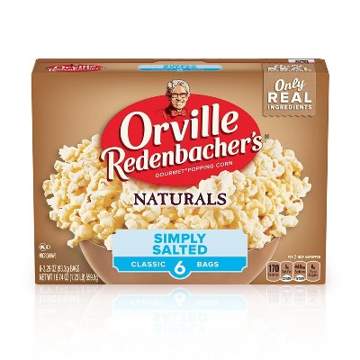 orville redenbacher s natural simply salted classic bag of gourmet popcorn 6ct