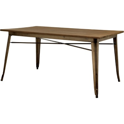 smithsonmetal frame w wooden table top dining table natural homes inside out