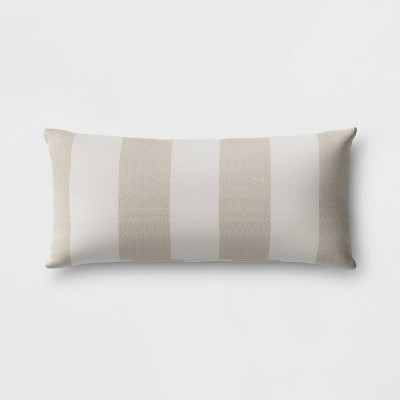 cabana stripe outdoor lumbar throw pillow duraseason fabric tan threshold
