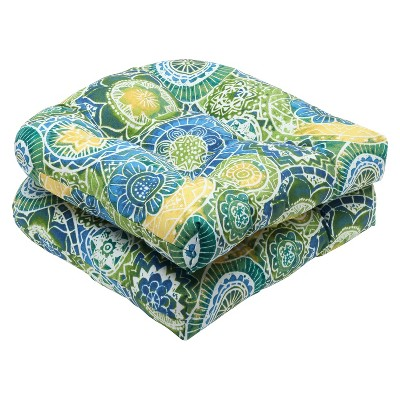 pillow perfect 2 piece outdoor wicker seat cushions omnia