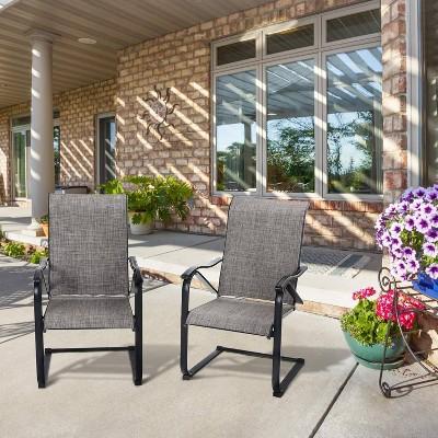 2pc patio c spring sling chairs captiva designs