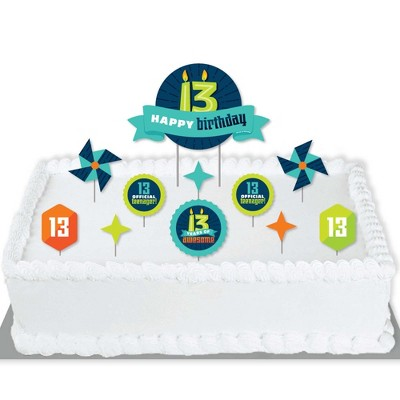 Big Dot Of Happiness Boy 13th Birthday Official Teenager Birthday Party Cake Decorating Kit Happy Birthday Cake Topper Set 11 Pieces Target