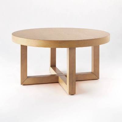 rose park round wood coffee table threshold designed with studio mcgee