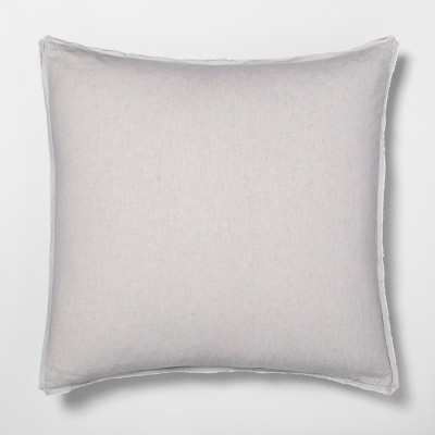solid linen blend euro pillow sham jet gray hearth hand with magnolia