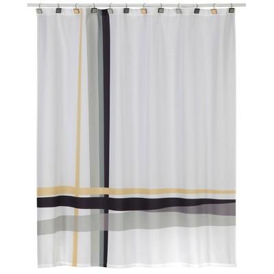 modern plaid shower curtain white gray creative bath