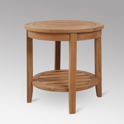 sherwood teak patio side table natural cambridge casual