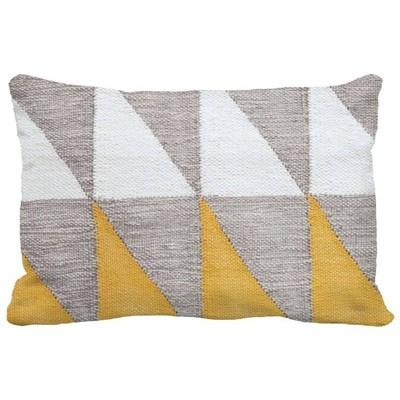color blocked geometric lumbar throw pillow yellow project 62