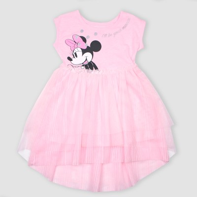 Toddler Girls Disney Minnie Mouse Tutu Dress Pink Target