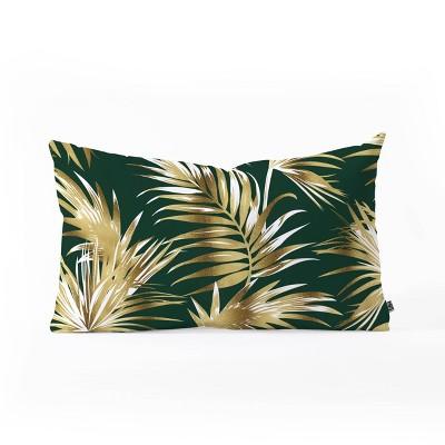 marta barragan camarasa golden palms oblong lumbar throw pillow bright gold deny designs