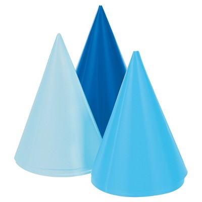 8ct 1st Birthday Boy Party Hats Target