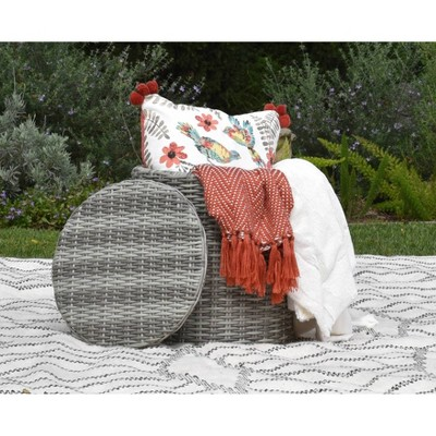 vallauris outdoor storage side table gray wicker adore docor