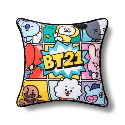 bt21 16 x16 line friends throw pillow