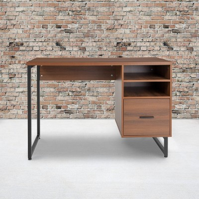 lincoln collection computer desk wood grain finish rustic riverstone furniture collection