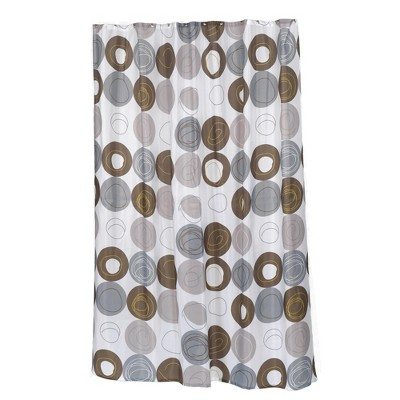 carnation home extra long madison fabric shower curtain