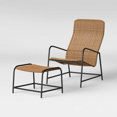 wexler patio lounge chair with ottoman natural project 62