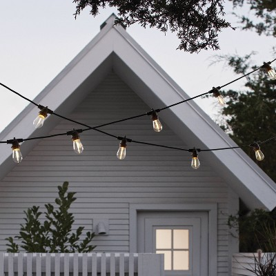 10ct led outdoor non drop string lights black smith hawken