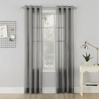 Erica Crushed Sheer Voile Grommet Curtain Panel No 918 Target