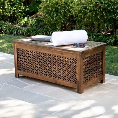 epwall acacia outdoor patio storage box aiden lane