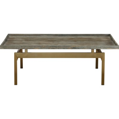biscayne modern cocktail table weathered gray treasure trove